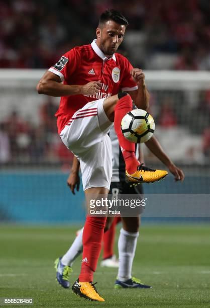 Benfica midfielder Andreas Samaris from Greece in action during the Primeira Liga match between SL Benfica and Portimonense SC at Estadio da Luz on...