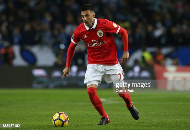 Benfica midfielder Andreas Samaris from Greece in action during the Primeira Liga match between FC Porto and SL Benfica at Estadio do Dragao on...