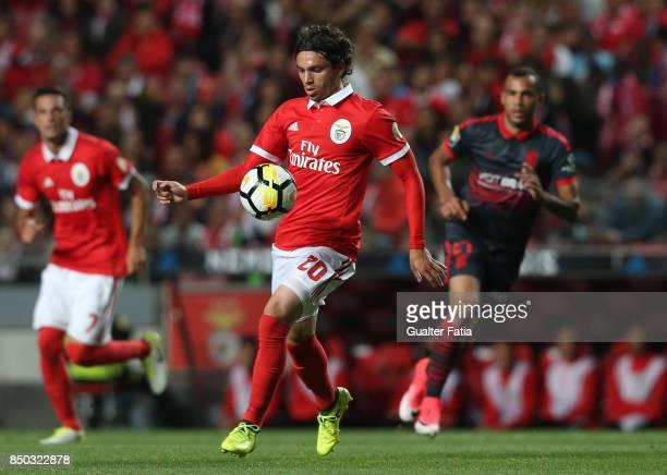 Benfica midfielder Filip Krovinovic from Croatia in action during the Portuguese League Cup match between SL Benfica and SC Braga at Estadio da Luz...