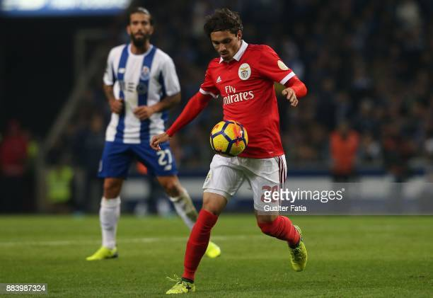 Benfica midfielder Filip Krovinovic from Croatia in action during the Primeira Liga match between FC Porto and SL Benfica at Estadio do Dragao on...