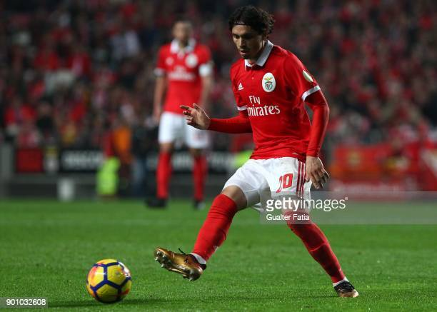Benfica midfielder Filip Krovinovic from Croatia in action during the Primeira Liga match between SL Benfica and Sporting CP at Estadio da Luz on...