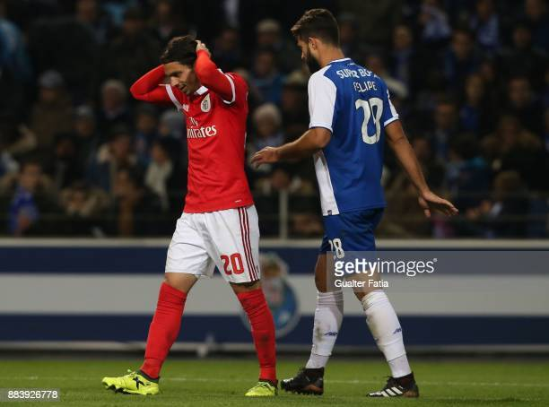 Benfica midfielder Filip Krovinovic from Croatia reaction after missing a goal opportunity during the Primeira Liga match between FC Porto and SL...