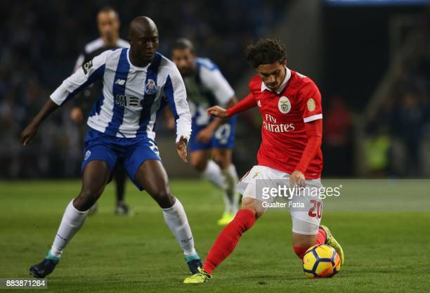 Benfica midfielder Filip Krovinovic from Croatia with FC Porto midfielder Danilo Pereira from Portugal in action during the Primeira Liga match...