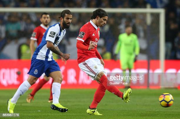 Benfica midfielder Filip Krovinovic from Croatia with FC Porto midfielder Sergio Oliveira from Portugal in action during the Primeira Liga match...