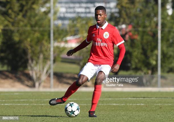 Benfica midfielder Florentino from Portugal in action during the UEFA Youth League match between SL Benfica and FC Basel at Caixa Futebol Campus on...