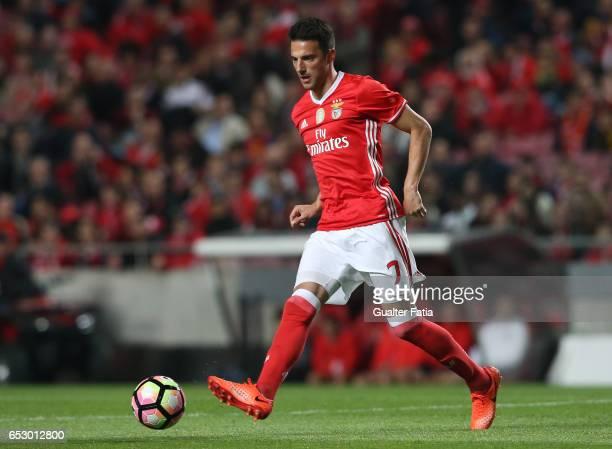 Benfica midfielder from Greece Andreas Samaris in action during the Primeira Liga match between SL Benfica and CF Os Belenenses at Estadio da Luz on...