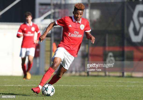 Benfica midfielder Gedson Fernandes from Portugal in action during the UEFA Youth League match between SL Benfica and FC Basel at Caixa Futebol...