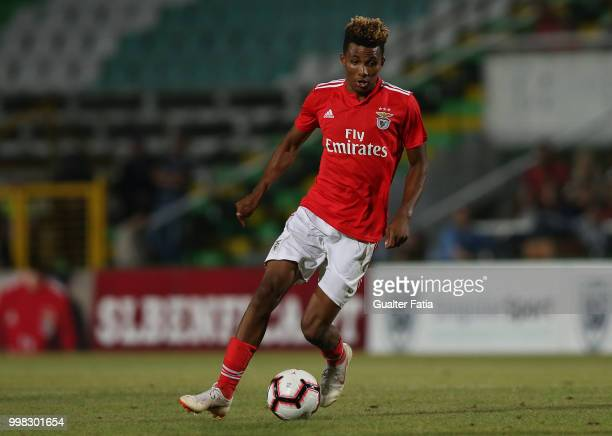 Benfica midfielder Gedson Fernandes from Portugal in action during the PreSeason Friendly match between SL Benfica and Vitoria Setubal at Estadio do...