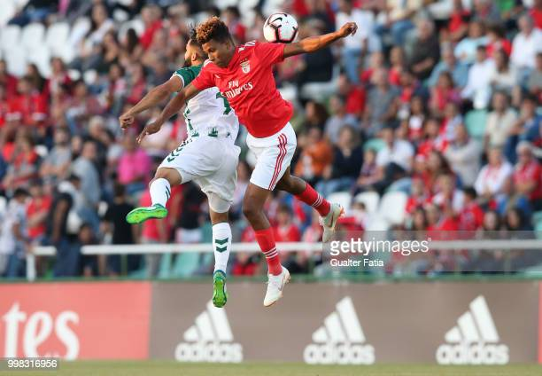 Benfica midfielder Gedson Fernandes from Portugal with Vitoria Setubal midfielder Joao Costinha from Portugal in action during the PreSeason Friendly...