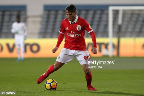 Benfica midfielder Joao Carvalho from Portugal in action during the Primeira Liga match between CF Os Belenenses and SL Benfica at Estadio do Restelo...