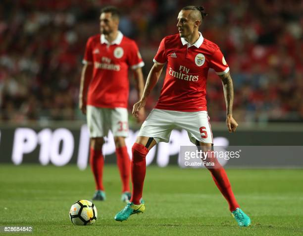 Benfica midfielder Ljubomir Fejsa from Serbia in action during the Primeira Liga match between SL Benfica and SC Braga at Estadio da Luz on August 9...