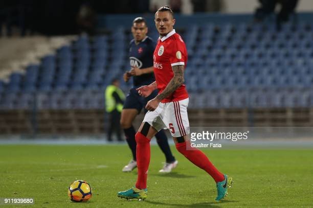 Benfica midfielder Ljubomir Fejsa from Serbia in action during the Primeira Liga match between CF Os Belenenses and SL Benfica at Estadio do Restelo...