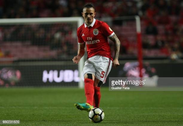Benfica midfielder Ljubomir Fejsa from Serbia in action during the Primeira Liga match between SL Benfica and CD Aves at Estadio da Luz on March 10...