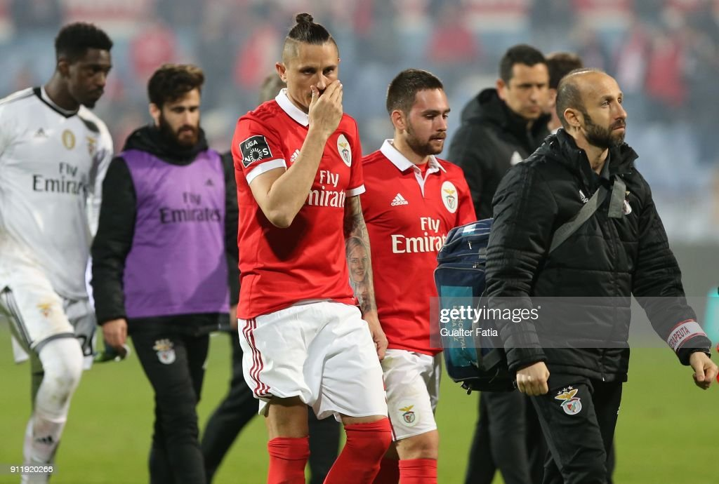 SL Benfica midfielder Ljubomir Fejsa from Serbia reaction to the draw at the end of the Primeira Liga match between CF Os Belenenses and SL Benfica at Estadio do Restelo on January 29, 2018 in Lisbon, Portugal.