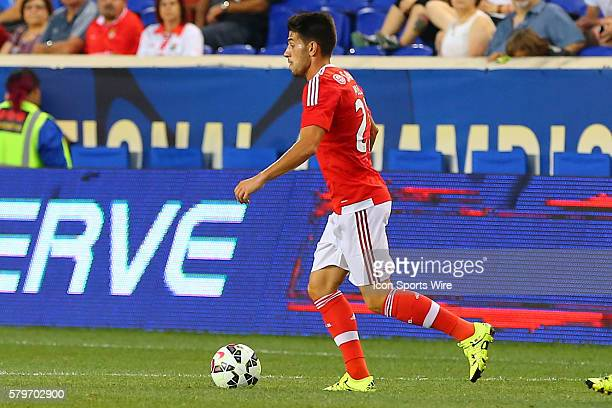 Benfica midfielder Pizzi during the first half of the game between the New York Red Bulls and SL Benfica played at Red Bull Arena in HarrisonNJ