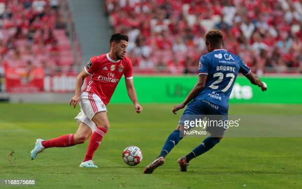 SL Benfica Midfielder Pizzi in action during the Premier League 2019/20 match between SL Benfica and Gil Vicente FC at Luz Stadium in Lisbon on...