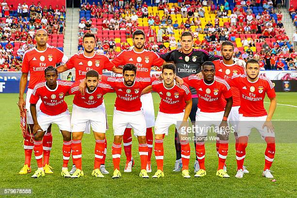 Benfica starting eleven pose for a photo prior to the game between the New York Red Bulls and SL Benfica played at Red Bull Arena in HarrisonNJ