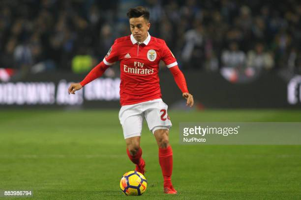Benfica's Argentinian forward Franco Cervi during the Premier League 2016/17 match between FC Porto and SL Benfica at Dragao Stadium in Porto on...