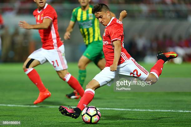 Benfica's Argentinian forward Franco Cervi in action during the Premier League 2016/17 match between CD Tondela and SL Benfica at Joao Cardoso...