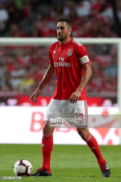 Benfica's Brazilian defender Jardel in action during the UEFA Champions League 3rd Qualifying Round first leg match Benfica vs Fenerbahce at the Luz...