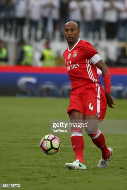 Benfica's Brazilian defender Luisao in action during the Portugal Cup Final football match SL Benfica vs Vitoria Guimaraes SC at Jamor stadium in...