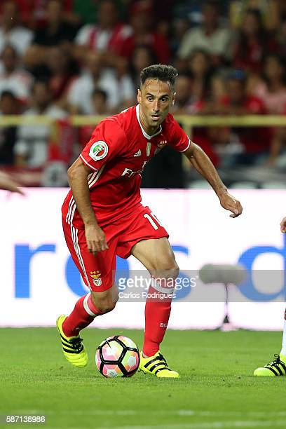 Benfica's Brazilian forward Jonas during the match between SL Benfica v SC Braga for Portuguese Super Cup at Estadio Municipal de Aveiro on August 7...