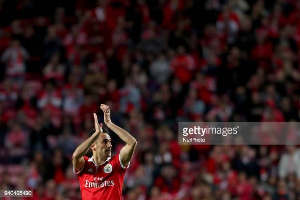 Benfica's Brazilian forward Jonas during the Portuguese League football match SL Benfica vs Vitoria Guimaraes at the Luz stadium in Lisbon on March...