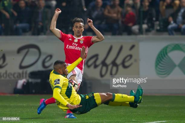 Benfica's Brazilian forward Jonas during the Premier League 2016/17 match between Pacos Ferreira and SL Benfica at Mata Real Stadium in Pacos de...