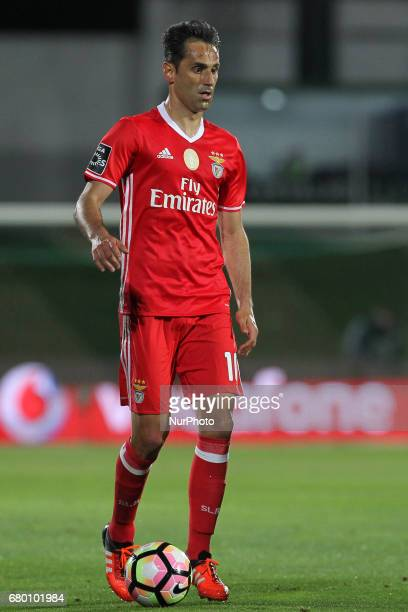 Benfica's Brazilian forward Jonas during the Premier League 2016/17 match between Rio Ave and SL Benfica at Arcos Stadium in Vila do Conde on May 7...