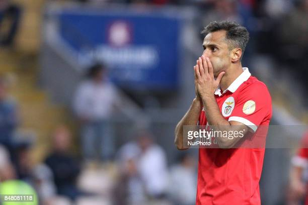 Benfica's Brazilian forward Jonas during the Premier League 2017/18 match between Boavista FC and SL Benfica at Bessa XXI Stadium in Porto on...