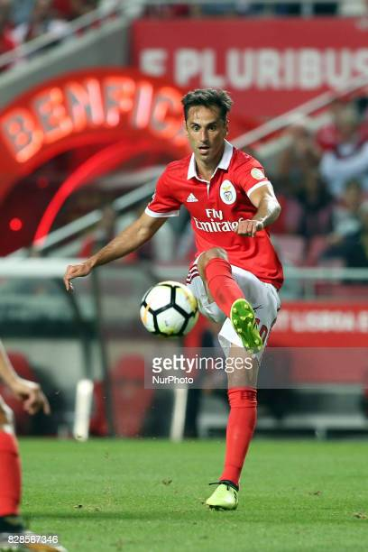 Benfica's Brazilian forward Jonas in action during the Portuguese League football match SL Benfica vs SC Braga at Luz stadium in Lisbon on August 9...