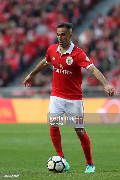 Benfica's Brazilian forward Jonas in action during the Portuguese League football match SL Benfica vs Vitoria Guimaraes at the Luz stadium in Lisbon...