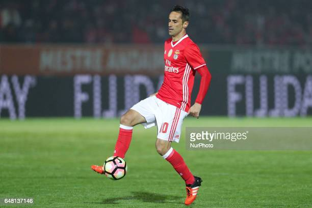 Benfica's Brazilian forward Jonas in action during the Premier League 2016/17 match between CD Feirense and SL Benfica at Marcolino de Castro Stadium...