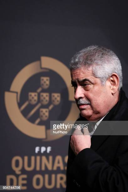 Benfica's chairman Luis Filipe Vieira poses at 'Quinas de Ouro' ceremony held at Pavilhao Carlos Lopes in Lisbon on March 19 2018
