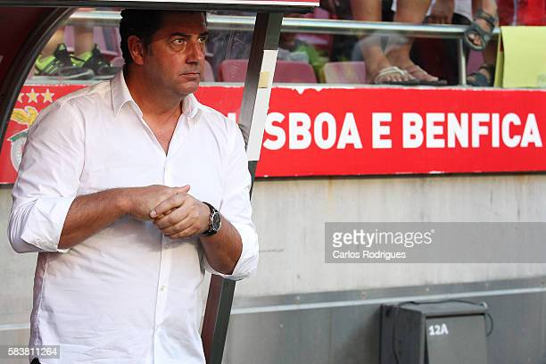 Benfica's coach Rui Vitoria during the match between SL Benfica and Torino for the Eusebio Cup at Estadio da Luz on July 27 2016 in Lisbon Portugal