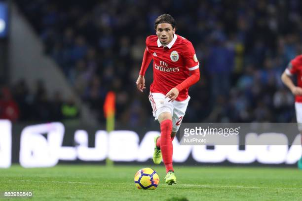 Benfica's Croatian midfielder Filip Krovinovic in action during the Premier League 2016/17 match between FC Porto and SL Benfica at Dragao Stadium in...