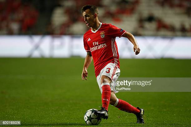 Benfica's defender Alejandro Grimaldo in action during Champions League 2016/17 match between SL Benfica vs Dynamo Kyiv in Lisbon on November 1 2016