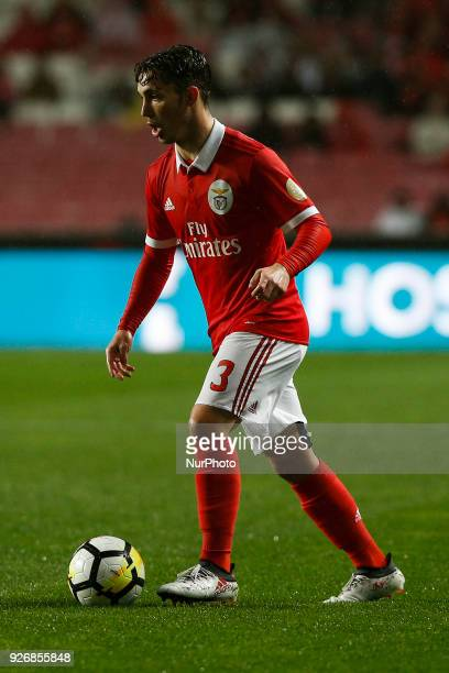 Benfica's defender Alejandro Grimaldo in action during Primeira Liga 2017/18 match between SL Benfica vs CS Maritimo in Lisbon on March 3 2018