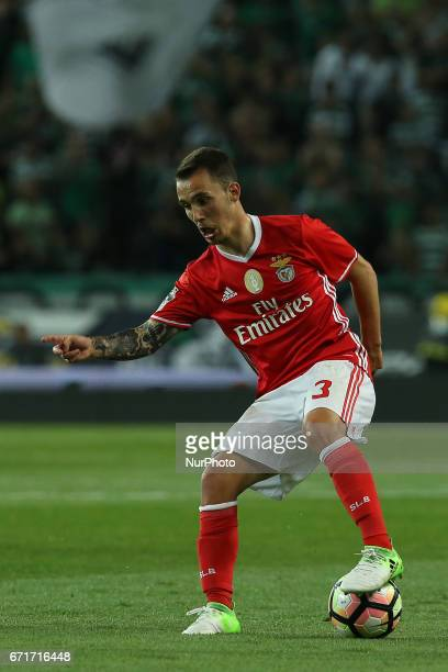 Benficas defender Alex Grimaldo from Spain during Premier League 2016/17 match between Sporting CP and SL Benfica at Alvalade Stadium in Lisbon on...