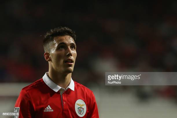 Benficas defender Alex Grimaldo from Spain during the Premier League 2017/18 match between SL Benfica v GD Estoril Praia at Luz Stadium in Lisbon on...