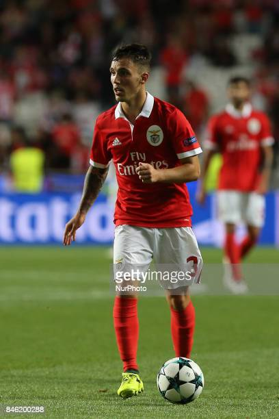 Benficas defender Alex Grimaldo from Spain during the SL Benfica v CSKA Moskva UEFA Champions League round one match at Estadio da Luz on September...
