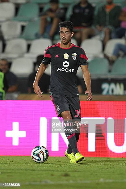 Benfica's defender Andre Almeida during the Portuguese League football match between Vitoria Setubal and SL Benfica at Estadio do Bonfim on September...