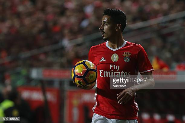 Benficas defender Andre Almeida from Portugal during Premier League 2016/17 match between SL Benfica and Sporting CP at Estadio da Luz in Lisbon on...