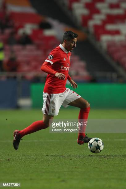 Benfica's defender Andre Almeida from Portugal during SL Benfica v FC Basel UEFA Champions League round six match at Estadio da Luz on December 05...