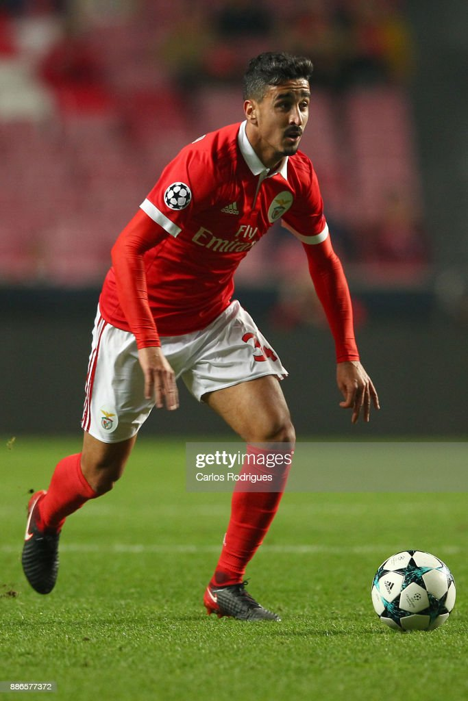 Benfica's defender Andre Almeida from Portugal during SL Benfica v FC Basel - UEFA Champions League round six match at Estadio da Luz on December 05, 2017 in Lisbon, Portugal.