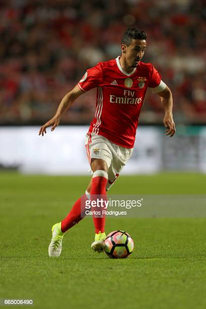 Benfica's defender Andre Almeida from Portugal during the match between SL Benfica and Estoril Praia SAD for the Portuguese Cup semi finals second...