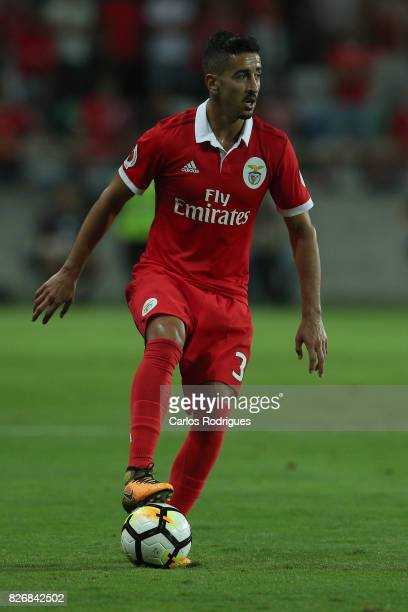 Benfica's defender Andre Almeida from Portugal during the match between SL Benfica and VSC Guimaraes at Estadio Municipal de Aveiro on August 05 2017...