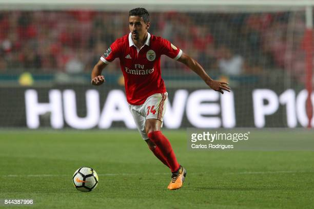 Benfica's defender Andre Almeida from Portugal during the match between SL Benfica and Portimonense SC for the round five of the Portuguese Primeira...