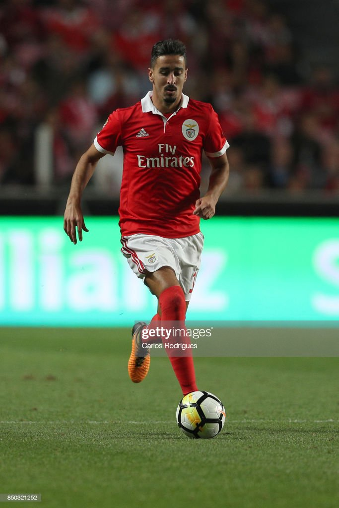Benfica's defender Andre Almeida from Portugal during the match between SL Benfica and SC Braga for the Portuguese Taca da Liga at Estadio da Luz on September 20, 2017 in Lisbon, Portugal.