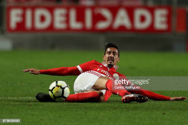 Benfica's defender Andre Almeida from Portugal during the match between SL Benfica and FC Vitoria Setubal for the Portuguese Primeira Liga at Estadio...